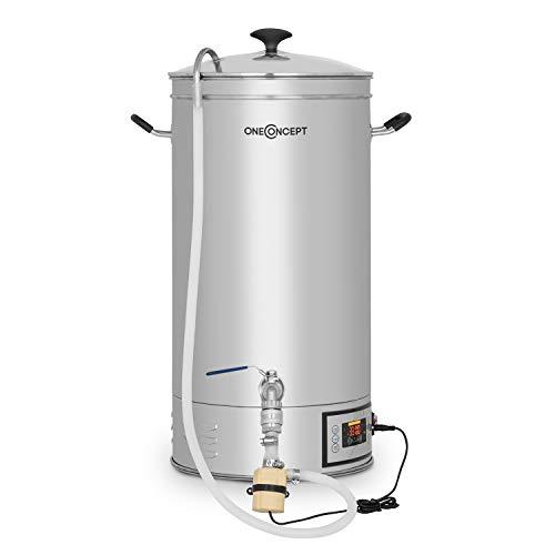 oneConcept Hopfengott - Cuve de brassage, 30L, 30-140 °C, pompe de circulation, inox