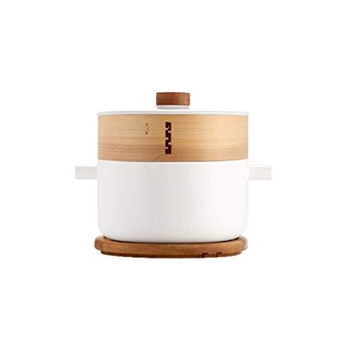LONGWDS sartén Hogar crisol de cerámica, especial for la estufa de gas de la llama abierta, Crisol de guisado de la cazuela 2.8L Cocina