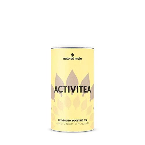 Natural Mojo ActiviTea – 100 g Kräutertee mit Superfoods – köstlicher grüner Tee mit Ingwer, Süßholzwurzel, Mate und Vanilla