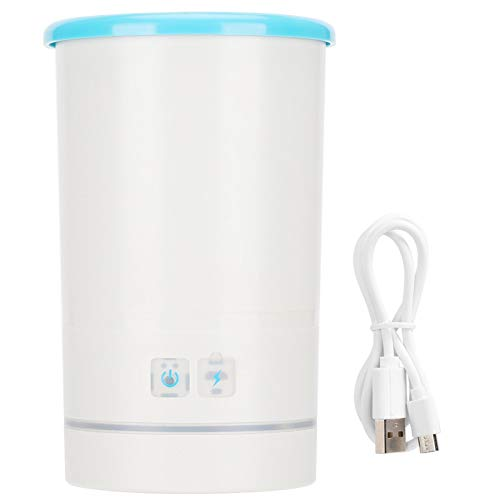 Lavadora de pies eléctrica automática para Mascotas Taza de Limpieza de pies Cepillo de Silicona Recargable USB Lavadora de Patas 19,1 oz