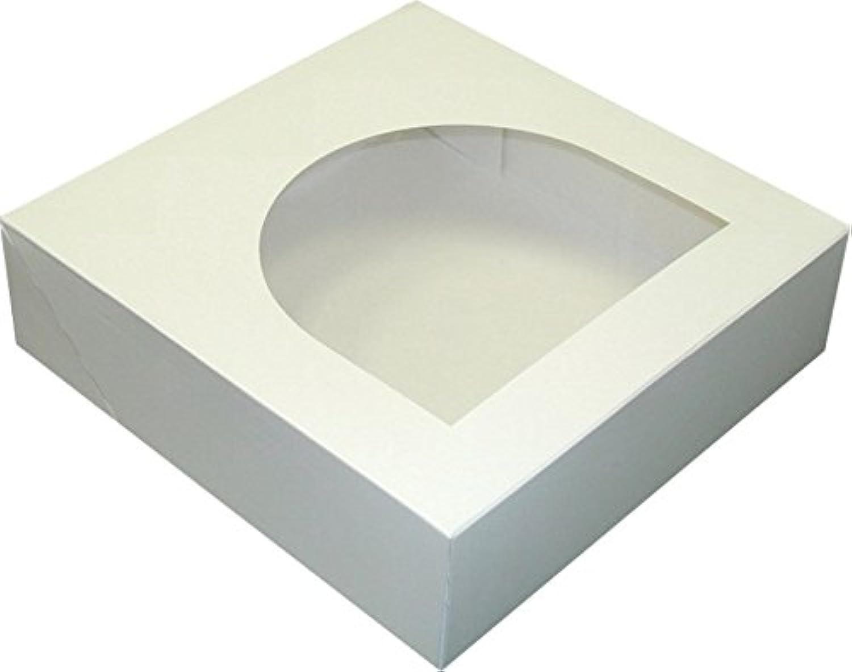 Dixie Windowed Pie Box by GP PRO (Georgia-Pacific), White, PL9X9X2, 9  Width x 9  Length, (Case of 100 Boxes)