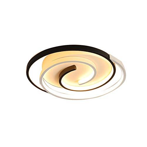 HSCW Lámparas de techo LED Lámpara de techo circular de diseño exclusivo 30W / 36W Montaje en superficie Techo ultrafino incrustado Lifht 3000K / 6000K Luces decorativas de interior nórdicas minimalis