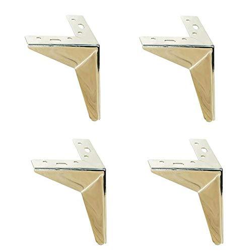 DuDu-Hardware Sofa Beine, Metall Möbelfüße, 6-Inch-Bank Beine, Mode Schränke, Schrank Beine, IKEA Regale, Essen Kabinett Beine (Color : Silver, Size : 6 inches)