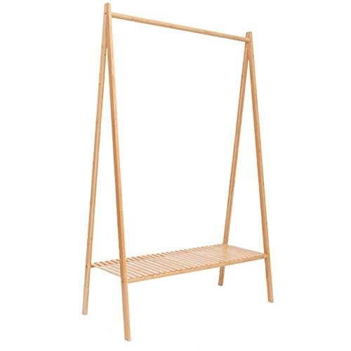 N/Z Haushaltsgeräte Ordentliche Schienen Schlafzimmergarderobe im nordischen Stil für den Hausgebrauch Log Farbe Bodengarderobe Kleiderlagerung (Farbe: Holzfarbe Größe: 45x97x159cm)