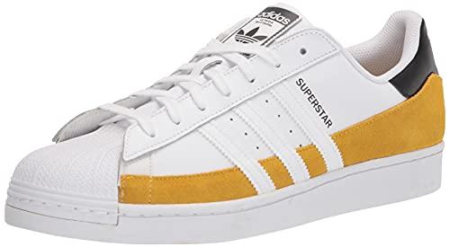 adidas Originals Superstar, Zapatillas Hombre, Hazy Yellow White Black, 48 2/3 EU