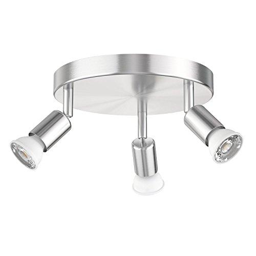 Preisvergleich Produktbild ledscom.de Deckenleuchte LUNARA,  dreiflammig inkl. 450lm LED GU10 Lampen warm-weiß