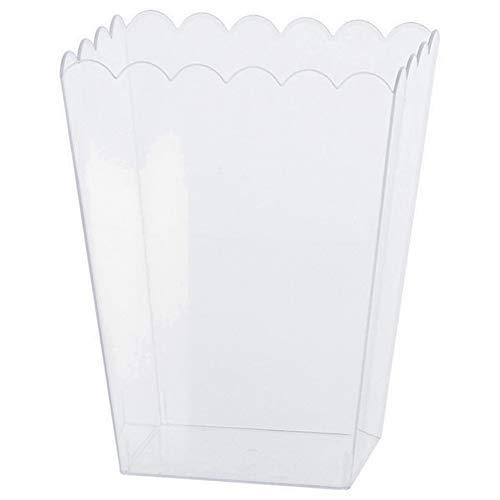 amscan - Recipiente de plástico transparente diseño cartón de palomitas
