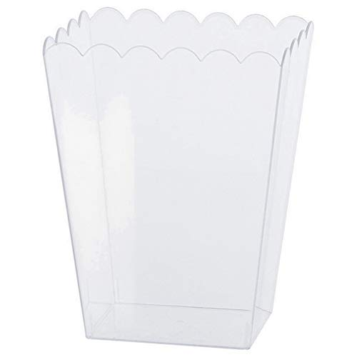 clear scalloped container - 1
