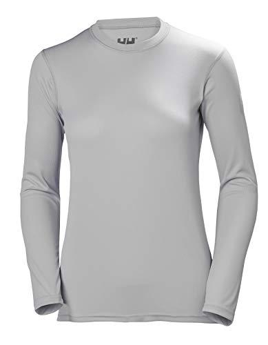 Helly Hansen HH Tech Crew Camiseta Deportiva Manga Larga, Mujer, Gris (Light Grey), S