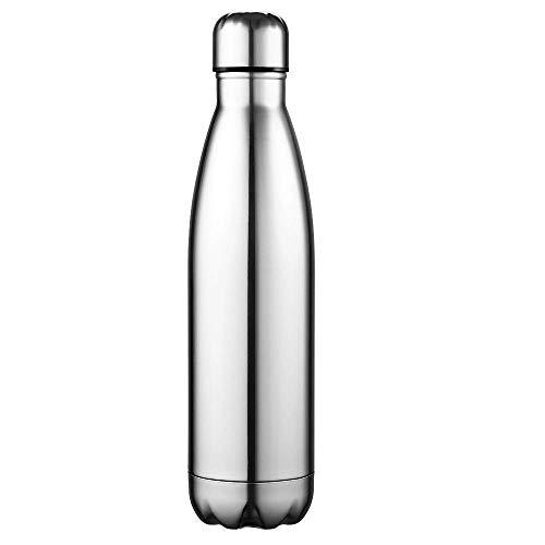 Anjoo Vakuum Isolierte Edelstahl Trinkflasche - 350ml/500ml/750ml, 12 Std Kühlen & Warmhalten, Kein BPA Thermosflasche für Schule, Sport, Fitness, Camping, Yoga