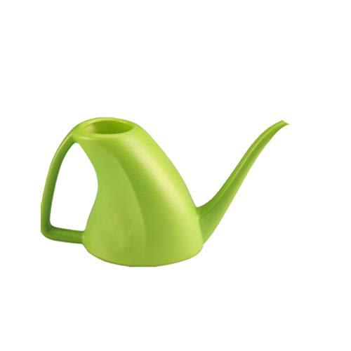 Cabilock - Annaffiatoio in plastica, con beccuccio lungo, per esterni e interni, colore: Verde
