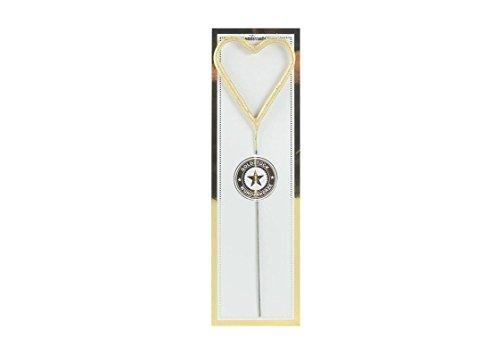 Wunderkerze Symbol Herz - 20,0 x 6,0 cm Gold - ALS Partyzubehör oder Geschenk