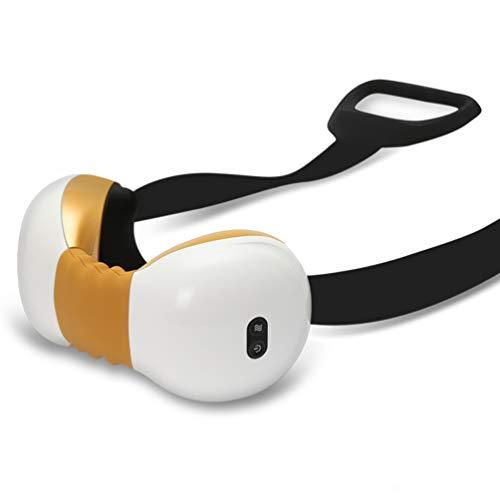 YLYHK Nackenmassage entspannen Halswirbel 3D Massage Schmerzen lindern Hals Instrument Umhängeband Hot Einpresstiefe Knet-Massagegerät,Gold