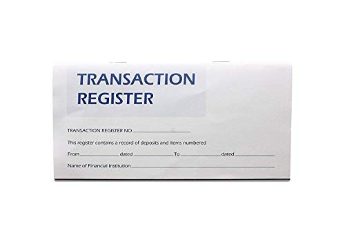 large size check register - 6