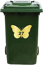Kliko Sticker/Vuilnisbak Sticker - Vlinder - Nummer 27-14x21 - Goud