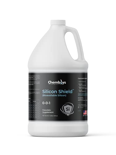 Chemboys Silica Plant Supplement with Bioavailable Silicone – Silicic Acid Si Shield Liquid Plant Nutrient - Supports Plant Strength Against Environmental Stress - Made in USA - 5 Gallon