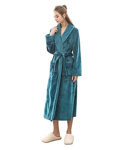 H HIAMIGOS dames heren badjas badstof unisex Kimono V-hals pyjama lang nachtkleding
