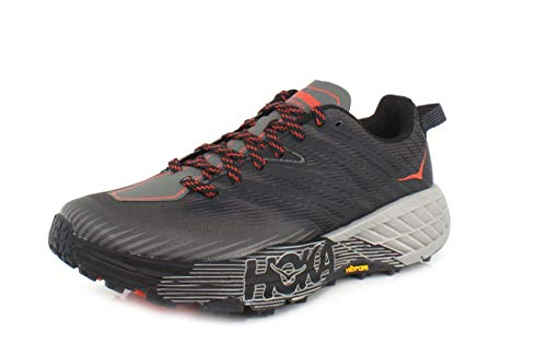 HOKA ONE ONE Mens Speedgoat 4 Dark Gull Grey/Anthracite Trail Runner - 8.5
