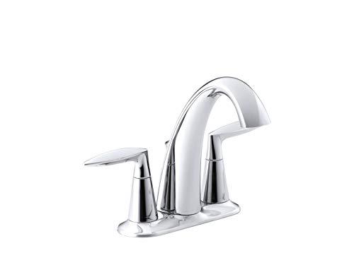 Bathroom Faucet by KOHLER, Bathroom Sink Faucet, Alteo Collection, Centerset Faucet, Polished Chrome, K-45100-4-CP