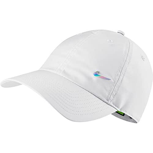 Nike 943092 U NSW DF H86 Metal Swoosh cap Berretto Unisex - Adulto White/DTM-irdest 1SIZE