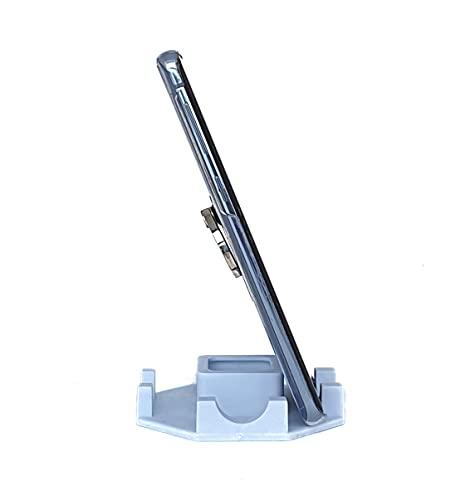 Suporte de Mesa para Celular ou Tablet serve em todos os aparelhos - Modelo Octagonal (Branco)