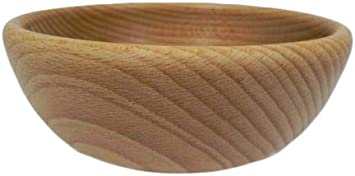 Wooden World – Cuenco decorativo de madera para frutos y nueces, estilo rústico, madera de haya natural, para merienda – 12 cm