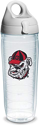 Tervis - Gourde individuelle avec couvercle Ga Univ Bulldog Head 24 Oz Emblème