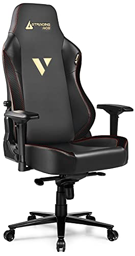 GTRACING Gaming Chair ACE Series Big and Tall Gaming Chair 400lbs Racing Office Chair Ergonomic Computer PC Game Desk Chair with Built-in Backrest, 4D Armrests, High Backrest, Reclining, Black