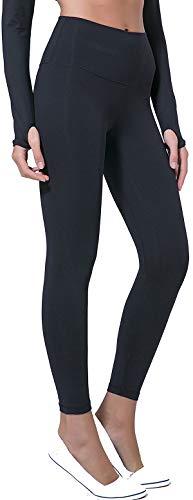 Chaos World Sporthose Damen High Waist Sport Leggings Elastische Tummy Control Yogahose Jogginghosen (Schwarz,S/Tag 6)