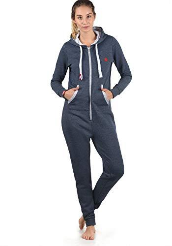 DESIRES Benna Damen Jumpsuit Overall Einteiler Mit Kapuze, Größe:M, Farbe:Insignia Blue Melange (8991)
