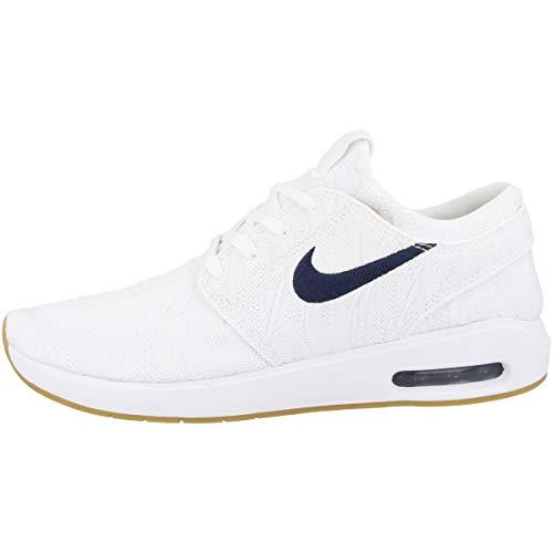 Jordan Nike SB Air MAX Stefan Janoski 2, Basketball Shoe Hombre, Blanco/Oro Celestial/Obsidiana, 38 EU