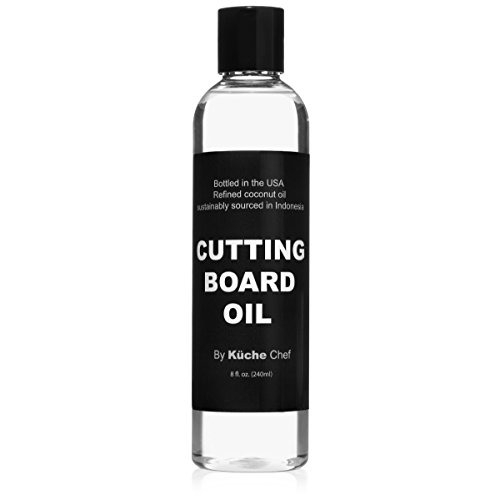 Natural Timber Cutting Board Oil For Daily Use - Bottled in the USA from Sustainably Sourced Non GMO Refined Coconut Oil. Protect your Wooden Cutting Board, Does Not Contain Petroleum (Mineral Oil)