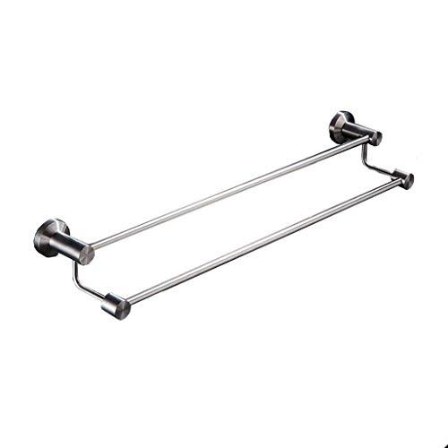 LIYONG Handtuchhalter Tuch Bar, doppelte Handtuchleiste (90,5 * 13,5 gebürstet Edelstahl SUS) Wandregal HLSJ