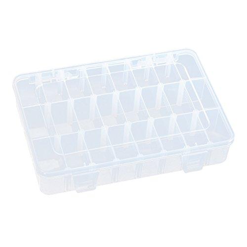 24 Fächer Kunststoff Vorratsbehälter Koffer Elektroteile Tackle Box