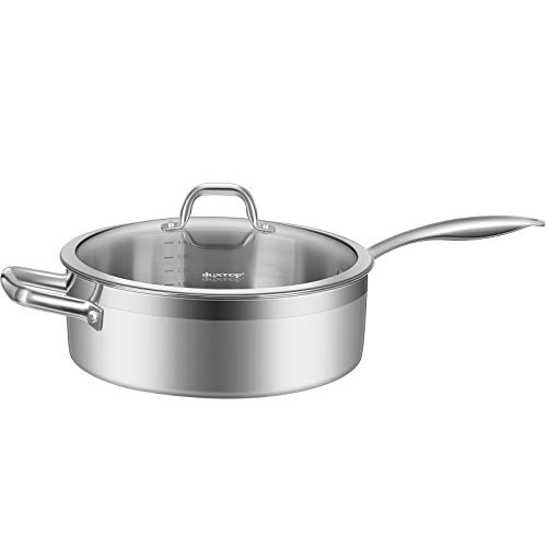 Duxtop Professional Stainless-steel Induction Ready Cookware Impact-bonded Technology (5.5 Qt Saute Pan)