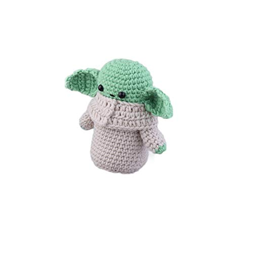 Neaer Schlüsselanhänger für Kinder, Yoda Masters Star Wars Yoda Puppen, Wolle, Strick-Schlüsselanhänger, Cartoon-Spielzeug, Anime-Schlüsselanhänger (Farbe