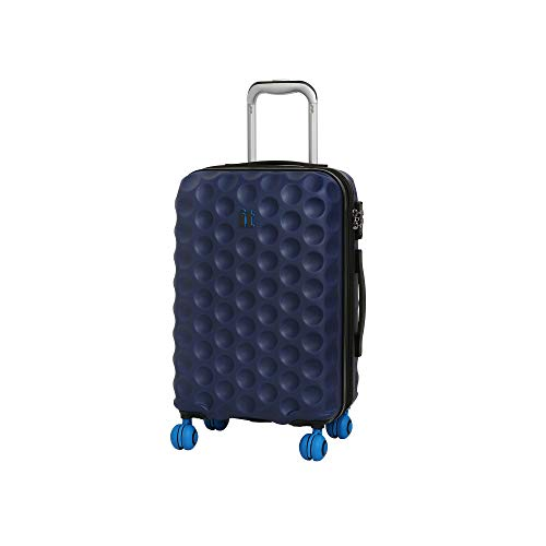it luggage Bubble-Spin 4 Wheel Hard Shell Single Expander Cabin With Tsa Lock Suitcase, 54 cm, 48 L, Blue Depths
