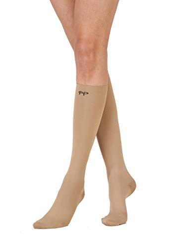 Pretty Polly Damen On The Go Compression Sock Kniestrümpfe, 40 DEN, Beige (Natural NTRL), One size