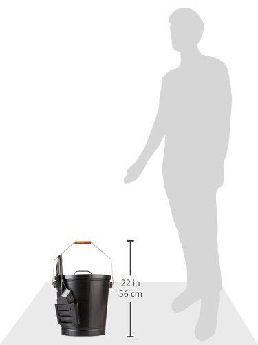 Panacea 15343 Ash Bucket with Shovel, Black 4 Ash bucket with shovel A specifically designed pocket on the side of the bucket holds the shovel, for an all in one unit, and the included lid keeps ash from spilling onto the floor This generous bucket holds plenty of ash from past fires, and the included shovel makes cleanup simple