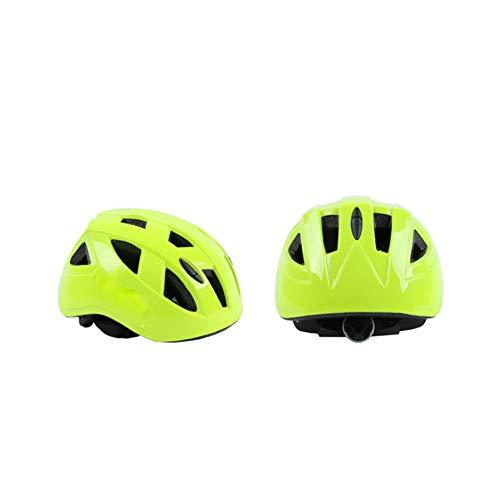 Kinder-Fahrradhelm, Radfahren, Mountainbike, verstellbar, Sicherheitsschutz und atmungsaktive Fahrradhelme, leichte Fahrradhelme S gelb