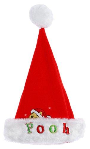 Bonnet noël bébé 'Pooh' Winnie l'ourson Rouge/blanc taille unique