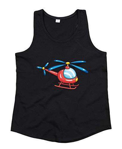 Tank Top - Cartoon Helikopter Fliegen Hubschrauber - Tops Unisex für Kinder - Jungen und Mädchen