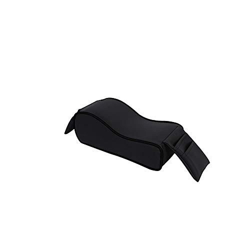 Cojín para reposabrazos de coche de Befitery universal, para reposabrazos de coche, consola central, funda de piel para reposabrazos acolchada, espuma viscoelástica suave (negro)