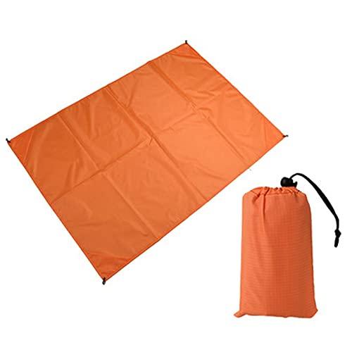 RENSHENKTO 1 Pc La Alfombra De Picnic Estera De Picnic Plegable Camping Al Aire Libre Naranja Espuma 1.4 * 1.5m