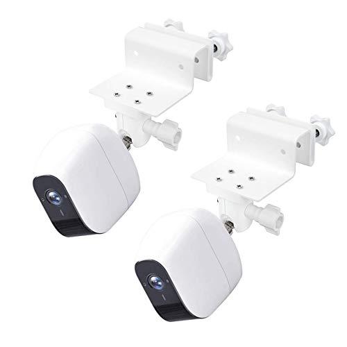Kit di staffe per montaggio a parete BECEMURU Kit di protezione grondaiaer Telecamere di sicurezza domestica wireless eufyCam 2 2 Pro, eufyCam 2C 2C Pro e eufyCam E (Bianco, 2 Pacco)