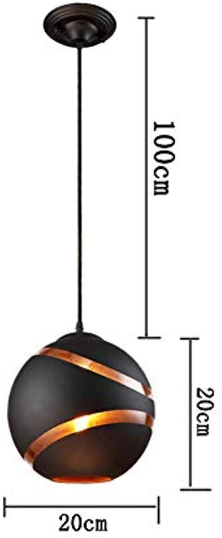 MXK-Lampe LED Kronleuchter 200cm   250cm Eisen + Glas E27 Lampenhalter Hohl Kreatives Restaurant Pub Cafe,20CM