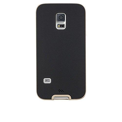 Case-Mate CM031206 Slim Tough Schutzhülle für Samsung Galaxy S5 Mini schwarz/gold