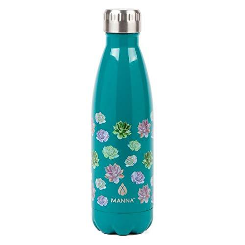 Manna Edelstahl-Trinkflasche, vakuumisoliert, Cola-Form, Thermosflasche, 24 Stunden kalt, 12 Stunden heiß, wiederverwendbar, leicht, Metall, auslaufsicher, Sportflasche, Geschenke für Radfahren (grün)