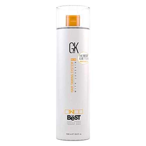 Global Keratin GKhair The Best Professional Hair Straightening, Smoothing Keratin Treatment (1000 ml/ 33.8 fl.oz) For Silky, Smooth Natural Hair - New Formula
