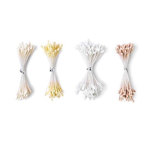 Sizzix Pistilli per Fiori 664614, Bianco/Crema, 400 PZ, 3 Misure, taglia unica